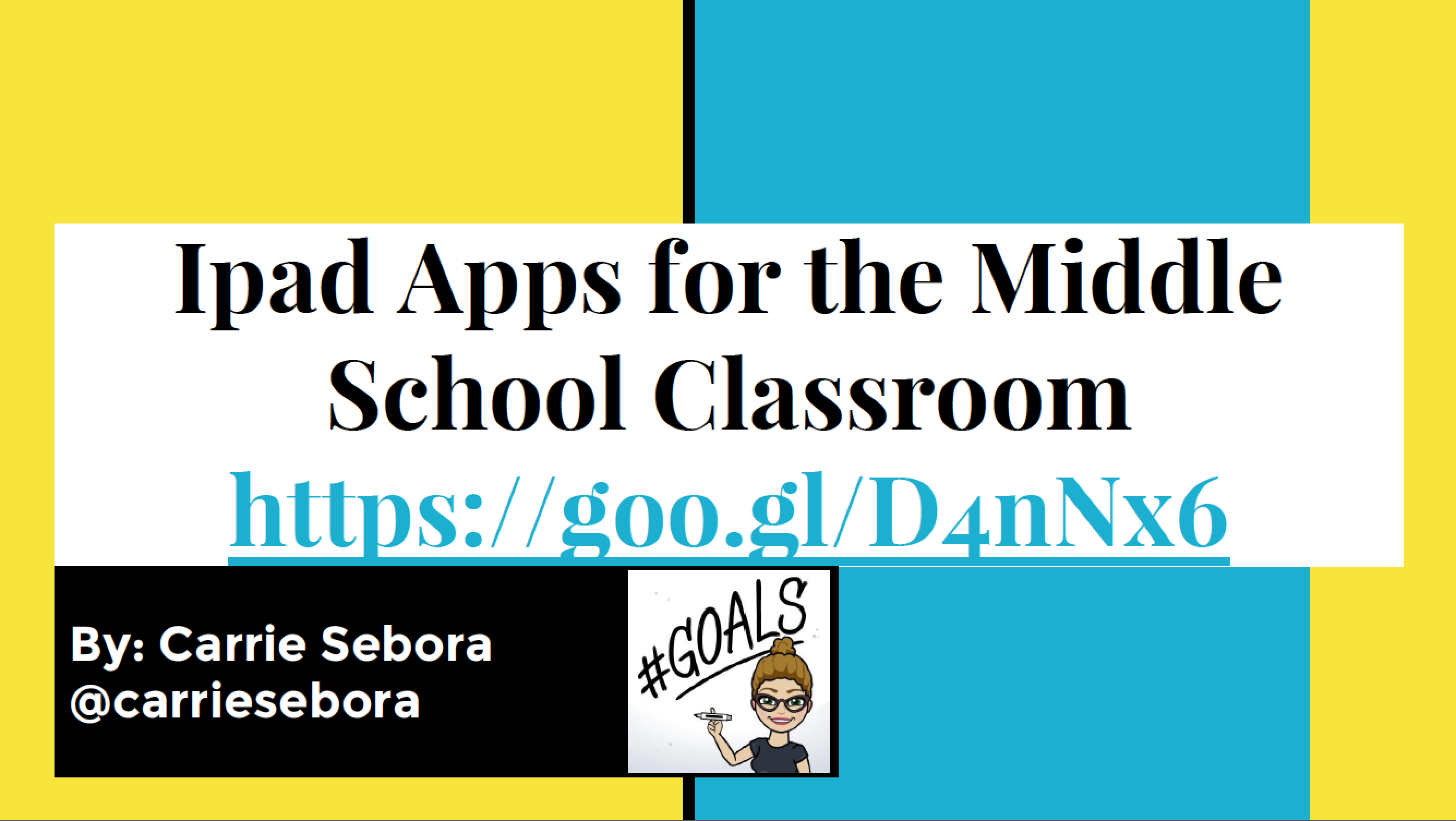Ms. Sebora's iPad App Guide